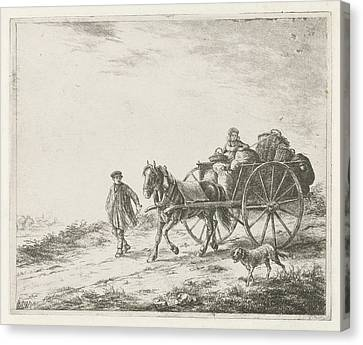 Farm Wagon With Load, Christiaan Wilhelmus Moorrees Canvas Print