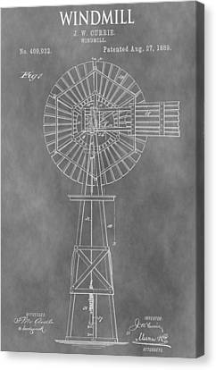 Farm Windmill Patent Canvas Print