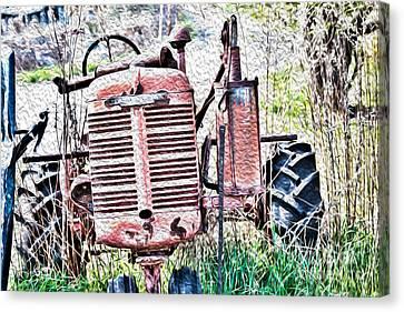Farmall - Antique - Recycling Canvas Print by Crystal Harman