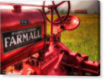 Farmall Morning Canvas Print by Michael Eingle