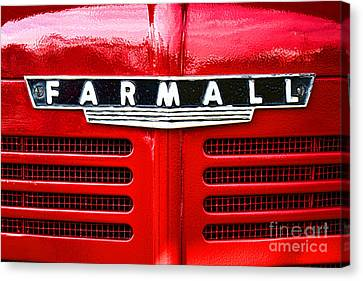 Canvas Print featuring the photograph Farmall by Olivier Le Queinec