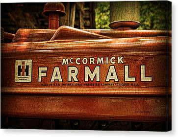 Farmall Tractor Canvas Print by Kenny Francis