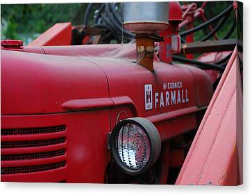 Canvas Print featuring the photograph Farmall Tractor by Ron Roberts