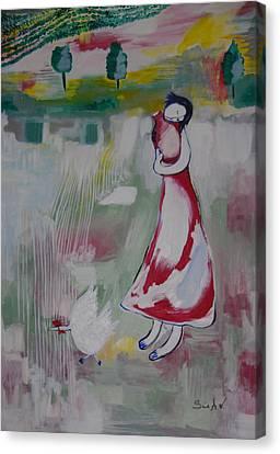 Farmer Girl Canvas Print