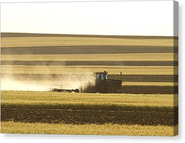 Farmer Working Canvas Print by James BO  Insogna