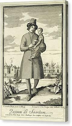 Farmer Zaandam, The Netherlands, Pieter Van Den Berge Canvas Print by Pieter Van Den Berge