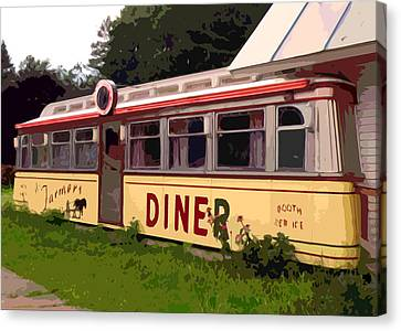 Farmers Diner Canvas Print by Jean Hall