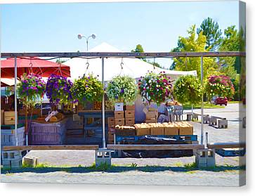 Farmers Market 2 Canvas Print by Lanjee Chee