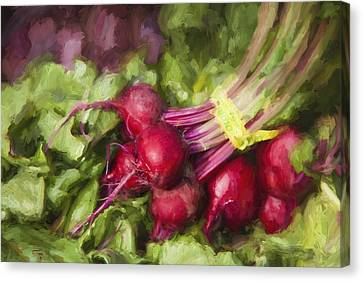 Farm Stand Canvas Print - Farmers Market Beets by Carol Leigh