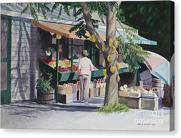 Farmer's Market Canvas Print by Karol Wyckoff