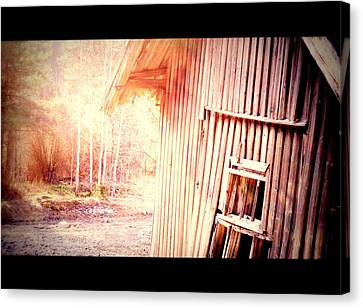 There Will Be A New Morning At The Old Farm And We Will Be There  Canvas Print by Hilde Widerberg