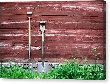 Canvas Print featuring the photograph Farmers Old Tools by Kennerth and Birgitta Kullman