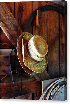 Farmer's Straw Hats Canvas Print by Susan Savad