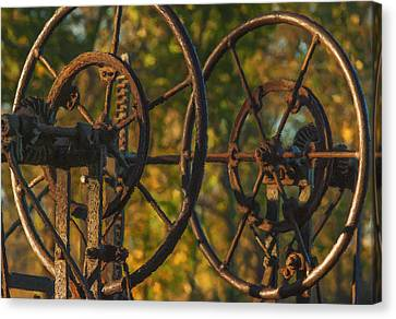 Farmers Tools Of Old Canvas Print by Jack Zulli