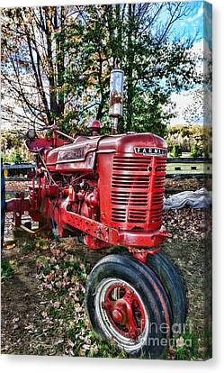 Farmers Tractor Canvas Print by Paul Ward