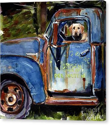 Labradors Canvas Print - Farmhand by Molly Poole
