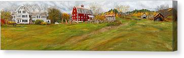 Red Barn Art- Farmhouse Inn At Robinson Farm Canvas Print by Lourry Legarde