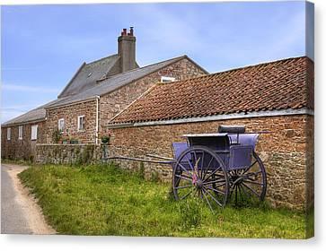 farmhouse on Jersey Canvas Print