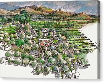 Farming Compound Canvas Print