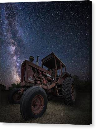 Harvester Canvas Print - Farming The Rift 5 by Aaron J Groen