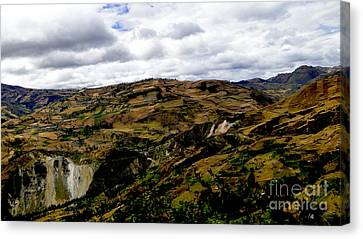 Farming The Summits Of The Andes Canvas Print