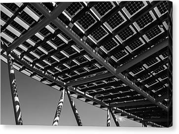 Canvas Print featuring the photograph Farming The Sun - Architectural Abstract by Steven Milner