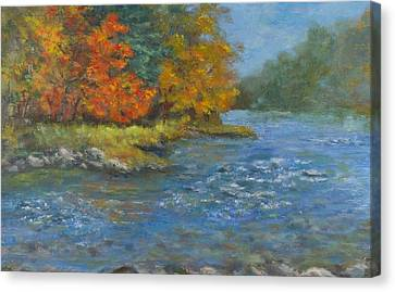 Farmington River Fall Canvas Print