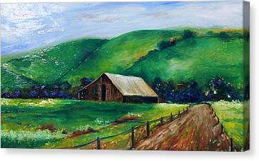 Canvas Print featuring the painting Farmland by Emery Franklin