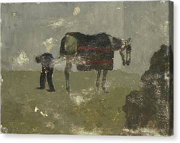 Farrier With Horse, George Hendrik Breitner Canvas Print