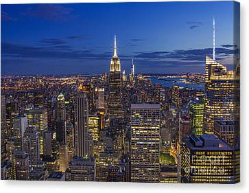 Fascinating City Lights Canvas Print by Marco Crupi