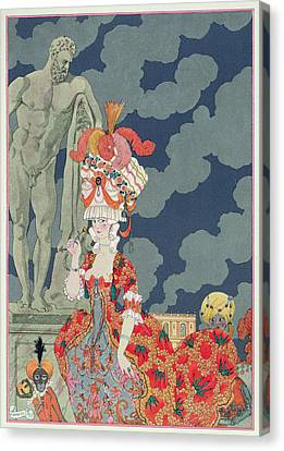 Fashion At Its Highest Canvas Print by Georges Barbier