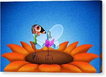 Fashion Butterfly Canvas Print by Gianfranco Weiss