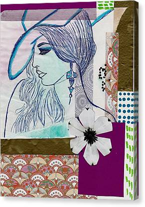Fashion Girl Collage Canvas Print