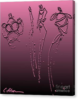 Fashion Graffiti.  Metalic Pink With Black Canvas Print by Cathy Peterson