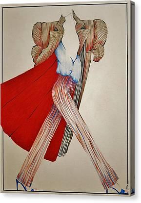Fashion Illustration Canvas Print by Joy Bradley