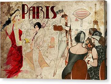 Fashion In Paris Canvas Print by Greg Sharpe