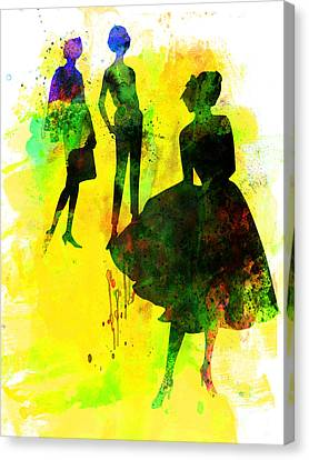 Fashion Models 2 Canvas Print by Naxart Studio