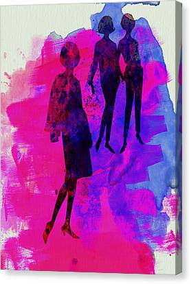 Fashion Models 4 Canvas Print by Naxart Studio