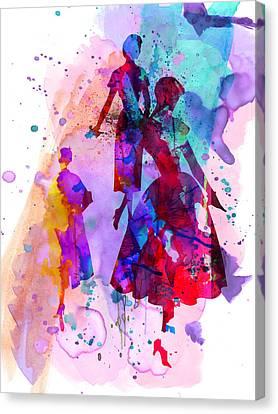 Fashion Models 6 Canvas Print by Naxart Studio