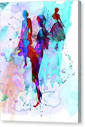 Fashion Models 7 Canvas Print by Naxart Studio