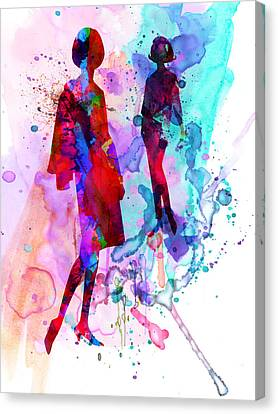 Fashion Models 8 Canvas Print by Naxart Studio