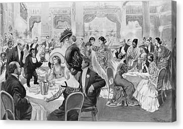 Fashionable Suppers Canvas Print by Georges Bertin Scott