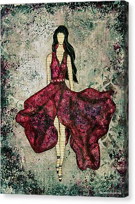 Fashionista Mixed Media Painting By Janelle Nichol Canvas Print by Janelle Nichol