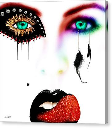 Fashionista Soft Rainbow Canvas Print