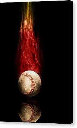 Fast Ball Canvas Print by Tom Mc Nemar