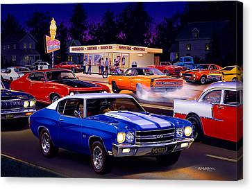 Fast Freds Canvas Print by Bruce Kaiser