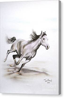 Running Horses Canvas Print - Fast In The Spirit by Tamer and Cindy Elsharouni
