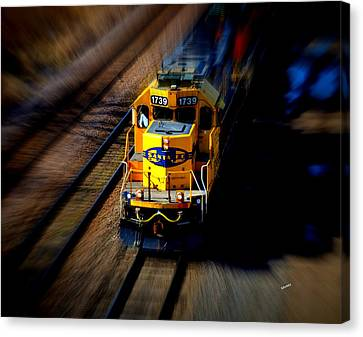 Fast Moving Train Canvas Print