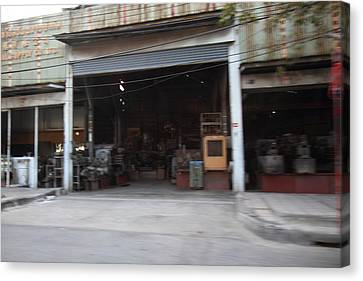 Blurred Canvas Print - Fast Paced City Life - Bangkok Thailand - 01131 by DC Photographer