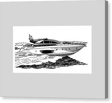 Fast Riva Motoryacht Canvas Print